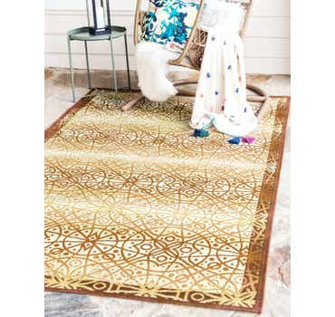 Beige Outdoor Lattice Rug