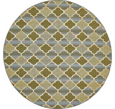 Image of  Beige Outdoor Lattice Round Rug