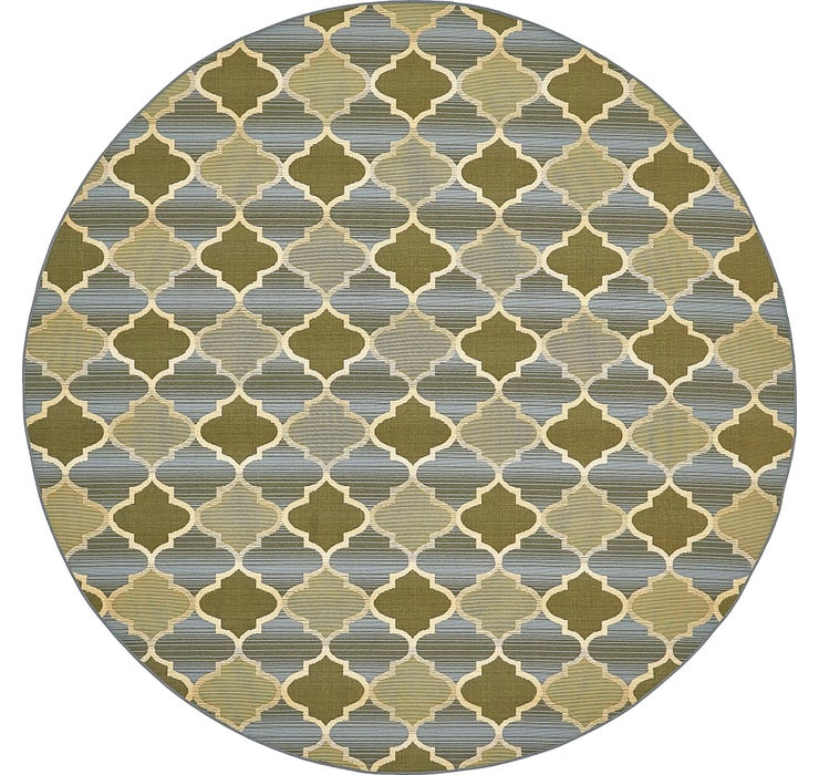 Image of 8' x 8' Outdoor Trellis Round Rug