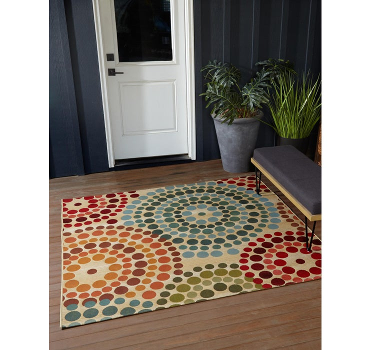 183cm x 183cm Outdoor Modern Square Rug