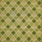 6' x 6' Outdoor Lattice Square Rug thumbnail
