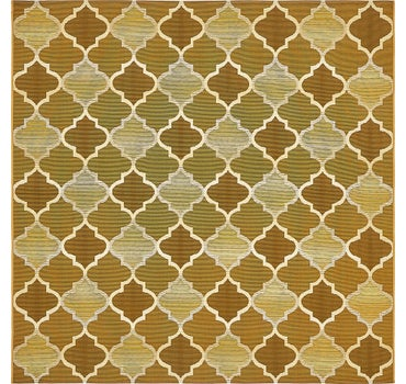 6' x 6' Outdoor Trellis Square Rug main image