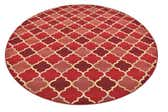 8' x 8' Outdoor Lattice Round Rug thumbnail