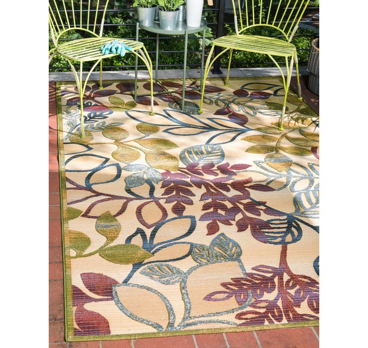 305cm x 365cm Outdoor Botanical Rug