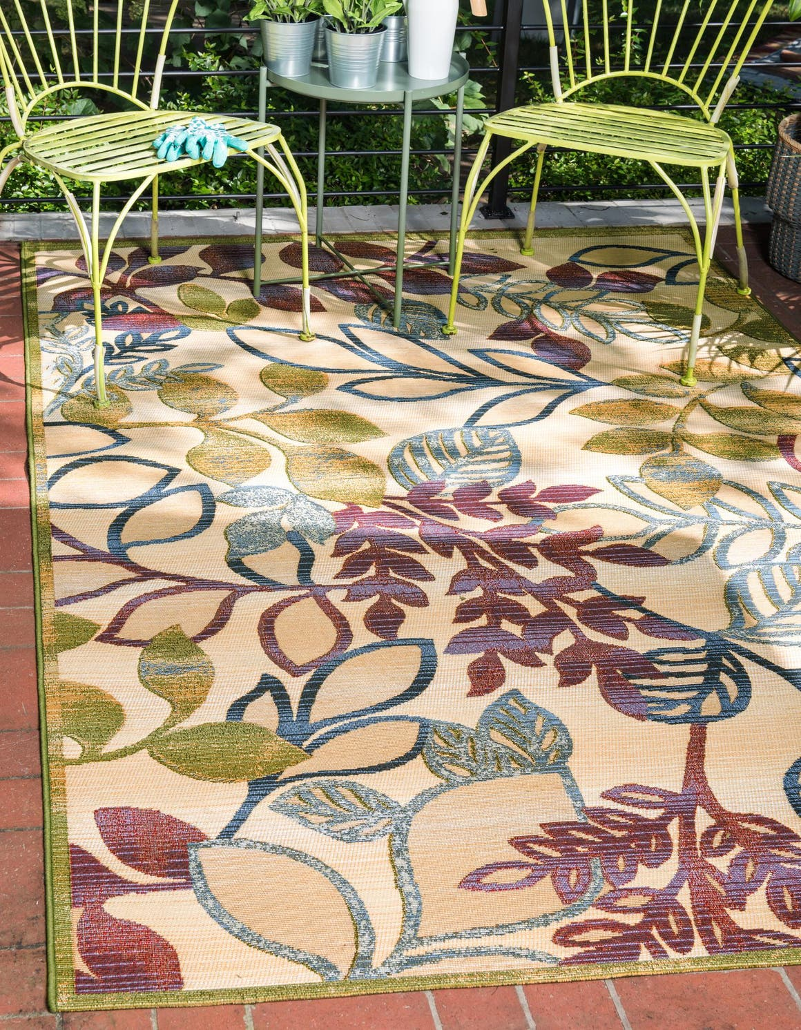 2' 2 x 3' Outdoor Botanical Rug main image