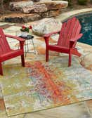 5' x 5' Outdoor Modern Square Rug thumbnail