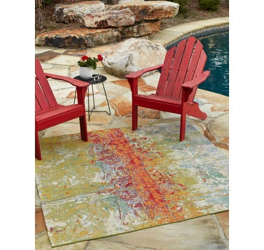 5' x 5' Outdoor Modern Square Rug main image