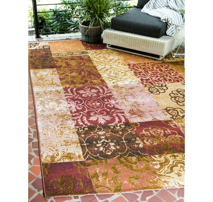 Image of 65cm x 90cm Outdoor Botanical Rug