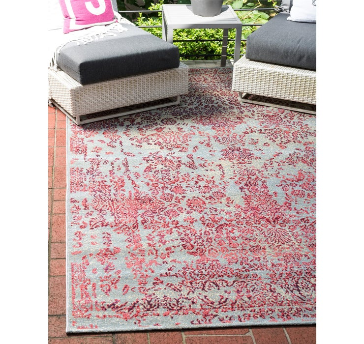 Image of 5' 3 x 8' Outdoor Botanical Rug