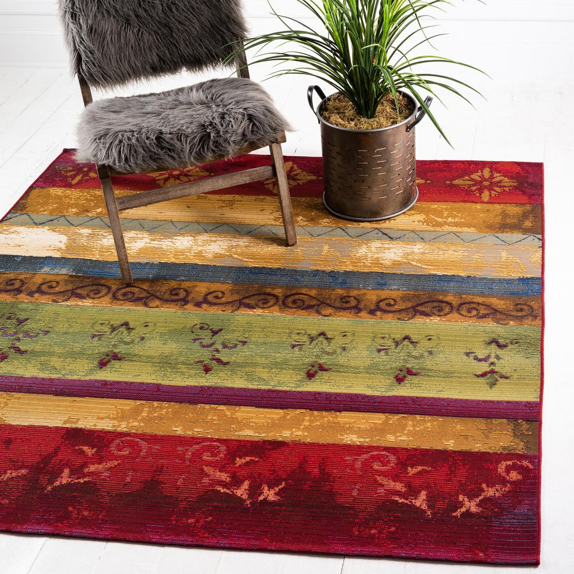 6' x 6' Outdoor Modern Square Rug main image