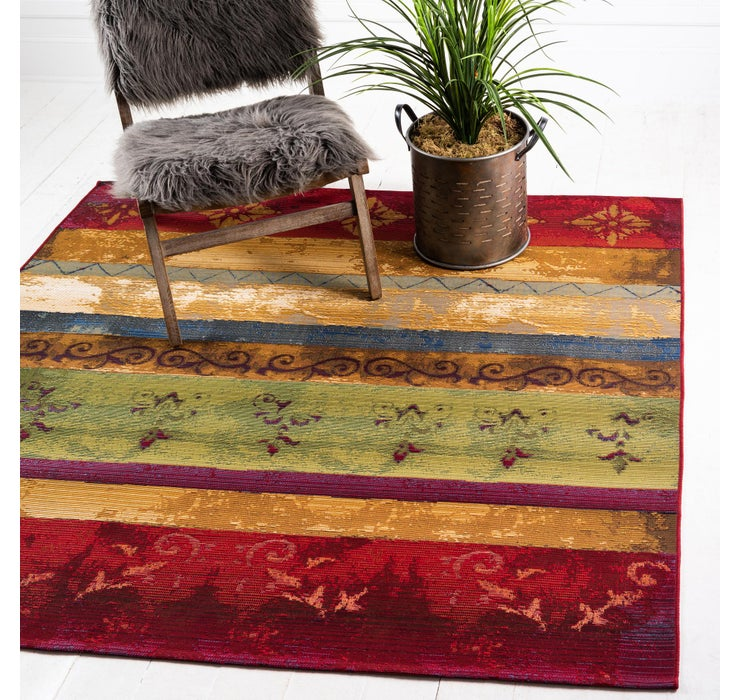 Image of 183cm x 183cm Outdoor Modern Square Rug