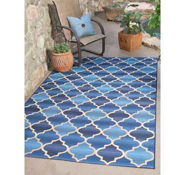 Image of 5' 3 x 8' Outdoor Trellis Rug
