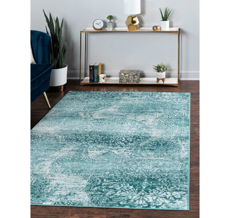 Turquoise Monte Carlo Rug
