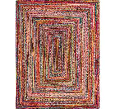 Image of 9' x 12' Braided Chindi Rug