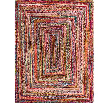 9' x 12' Braided Chindi Rug main image