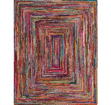 8' x 10' Braided Chindi Rug