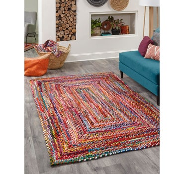 5' x 8' Braided Chindi Rug main image