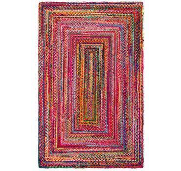 Image of 5' x 8' Braided Chindi Rug