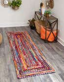 75cm x 183cm Braided Chindi Runner Rug thumbnail
