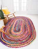 3' 3 x 5' Hand Braided Oval Rug thumbnail