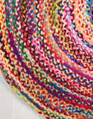 8' x 10' Hand Braided Oval Rug thumbnail