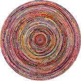 8' x 8' Braided Chindi Round Rug thumbnail