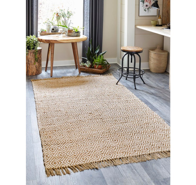 65cm x 365cm Braided Jute Runner Rug