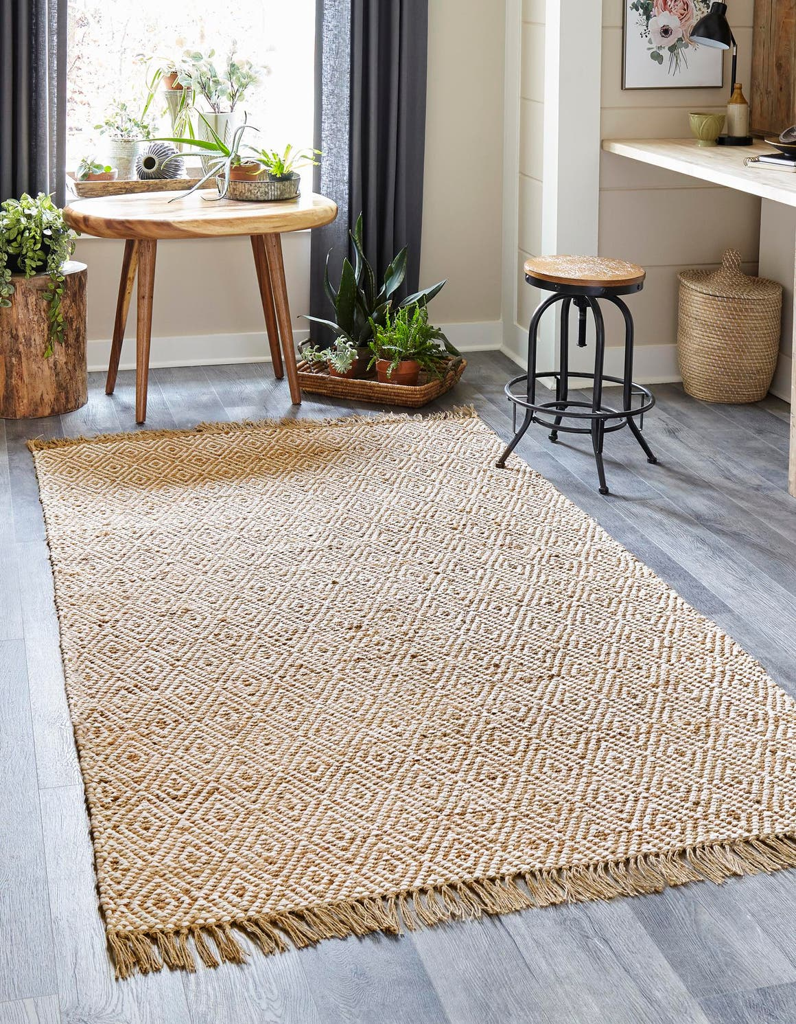 Natural 275cm X 365cm Braided Jute Rug