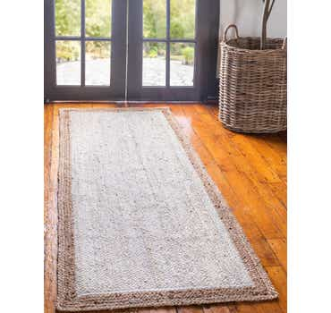 Image of  White Braided Jute Runner Rug