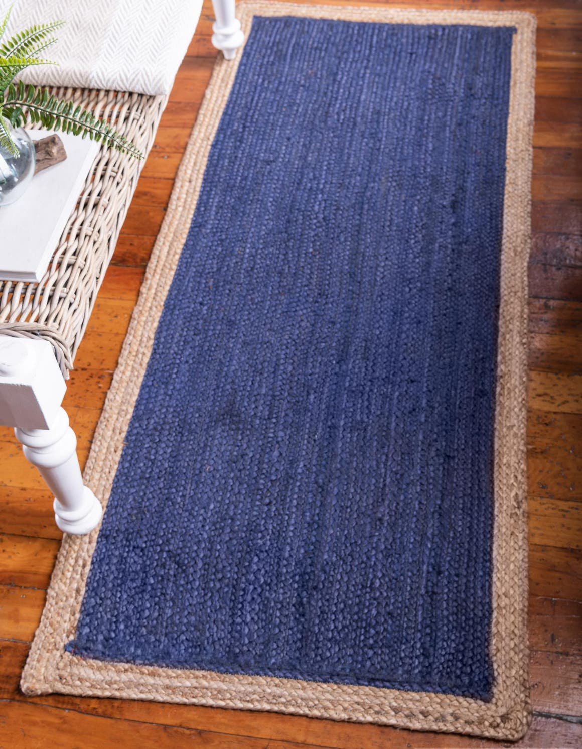 2' 6 x 6' Braided Jute Runner Rug main image