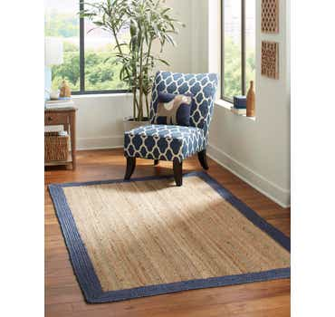 Image of 6' x 9' Braided Jute Rug