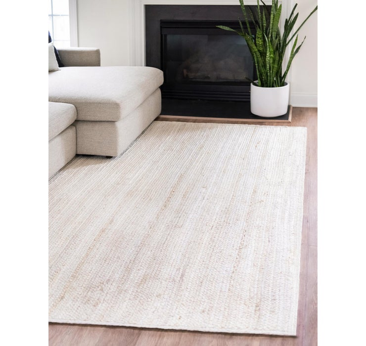 152cm x 245cm Braided Jute Oval Rug
