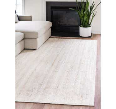 Image of  White Braided Jute Rug