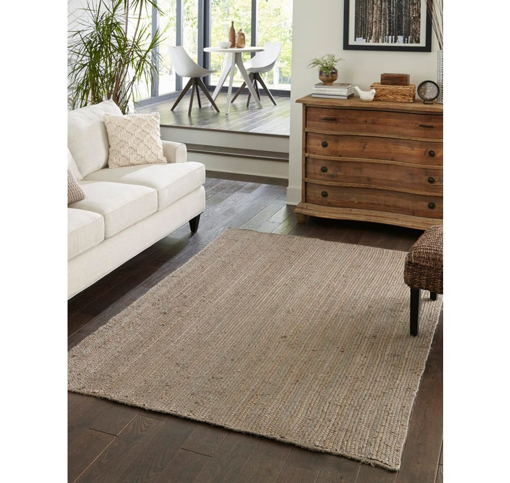 Image of  Gray Braided Jute Rug