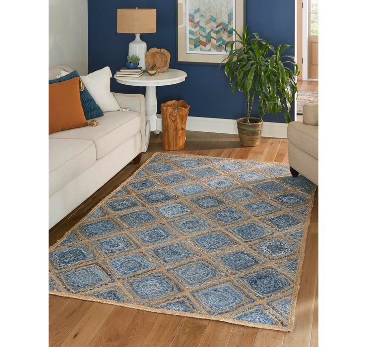 Image of 3' 3 x 5' Braided Jute Rug