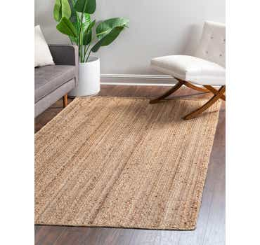 Image of  2' x 3' Braided Jute Rug