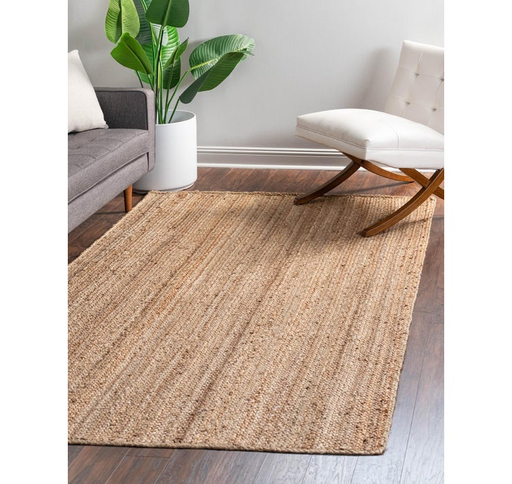 Image of 5' x 8' Braided Jute Rug