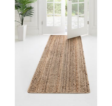 2' 7 x 16' 5 Braided Jute Runner Rug main image