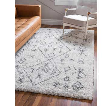 Image of  Pure Ivory Morroccan Shag Rug