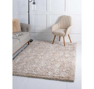 Image of  Taupe Morroccan Shag Rug