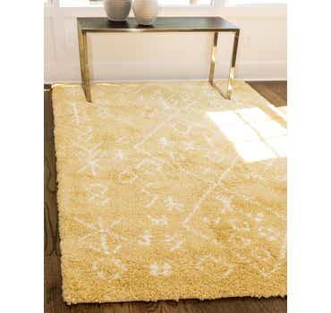 Image of  Yellow Morroccan Shag Rug