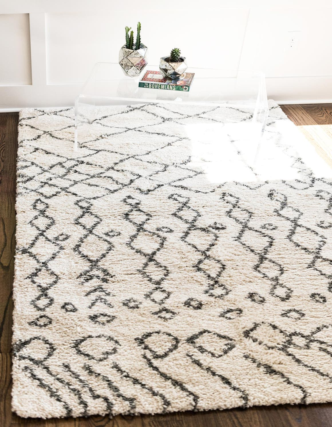 Pure Ivory  4' x 6' Marrakesh Shag