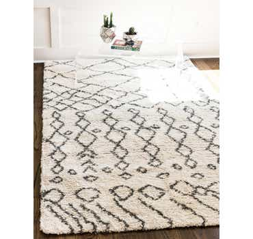 Image of  Pure Ivory Moroccan Shag Rug