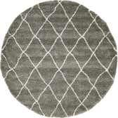 8' x 8' Morroccan Shag Round Rug thumbnail