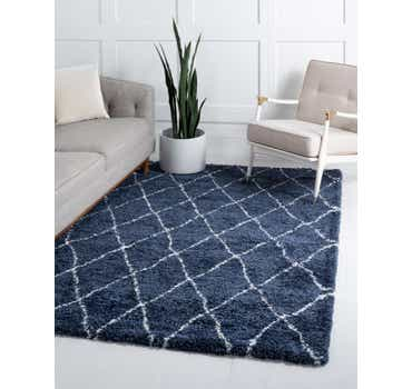 Image of  Navy Blue Morroccan Shag Rug