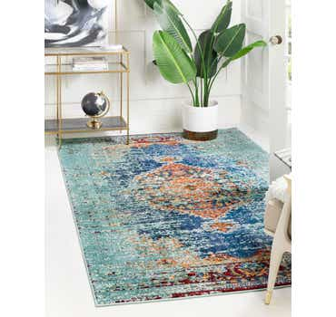 Image of  Turquoise Carnevale Rug