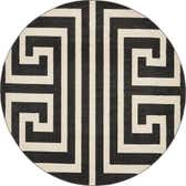 8' x 8' Greek Key Round Rug thumbnail