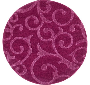 4' x 4' Floral Frieze Round Rug main image