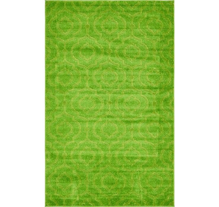 Green Lattice Frieze Rug
