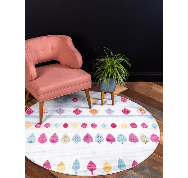 5' 5 x 5' 5 Tribe Round Rug